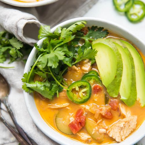 Whole30 Instant Pot Chicken Tortilla-Less Soup