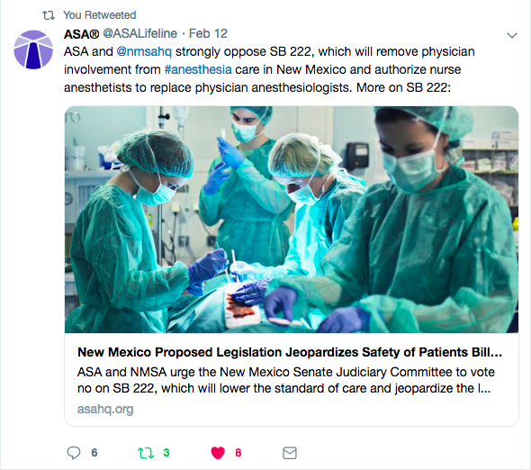 The Independence debate in Anesthesia